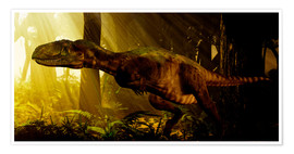 Premium poster  An Abelisaurus moves stealthily though the forest. - Philip Brownlow