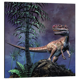 Aluminium print  Monolophosaurus was a theropod dinosaur from the Middle Jurassic period. - Philip Brownlow