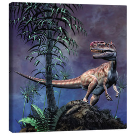 Canvas  Monolophosaurus was a theropod dinosaur from the Middle Jurassic period. - Philip Brownlow