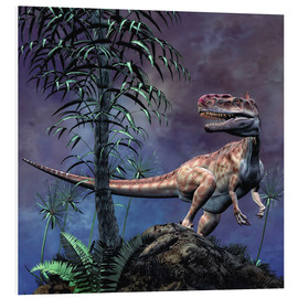 Foam board print  Monolophosaurus was a theropod dinosaur from the Middle Jurassic period. - Philip Brownlow