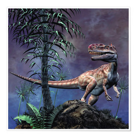 Premium poster  Monolophosaurus was a theropod dinosaur from the Middle Jurassic period. - Philip Brownlow
