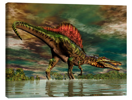 Canvas print  Spinosaurus from the Cretaceous period - Philip Brownlow