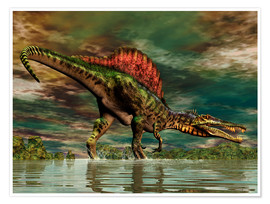 Poster  Spinosaurus from the Cretaceous period - Philip Brownlow