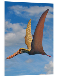 Foam board print  Cearadactylus atrox, a large pterosaur from the Cretaceous Period. - Sergey Krasovskiy
