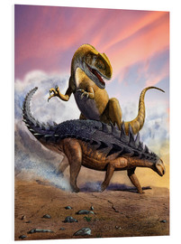 Foam board print  Confronation between a Neovenator and a Polacanthus armored dinosaur. - Sergey Krasovskiy