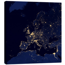 Canvas print  Europe at night
