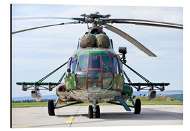 Alu-Dibond  Slovakian Mi-17 with digital camouflage and gun pod. - Timm Ziegenthaler
