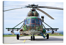 Canvas print  Slovakian Mi-17 with digital camouflage and gun pod. - Timm Ziegenthaler