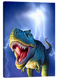 Canvas  T.Rex in the storm - Jerry LoFaro