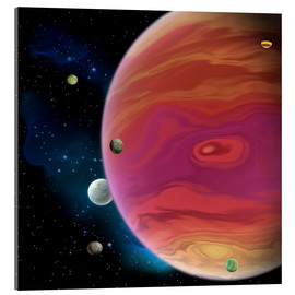 Acrylic glass  Artist's concept of planet Jupiter. - Corey Ford