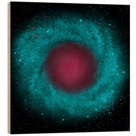 Wood print  Artist's concept of the Helix Nebula. - Corey Ford