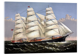 Acrylic print  Vintage print of the Clipper ship Three Brothers. - John Parrot