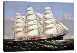 Canvas  Vintage print of the Clipper ship Three Brothers. - John Parrot