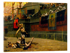 Acrylic print  gladiator with his defeated opponent - John Parrot
