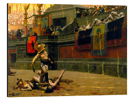 Aluminium print  gladiator with his defeated opponent - John Parrot