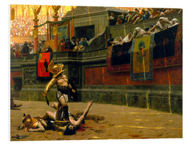 Foam board print  gladiator with his defeated opponent - John Parrot