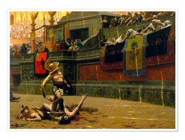 Poster  gladiator with his defeated opponent - John Parrot