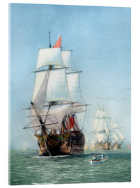 Acrylic glass  Vintage print of HMS Victory - John Parrot