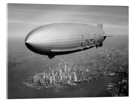 Acrylic glass  USS Macon Airship over NY - John Parrot