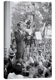 Canvas print  Robert F. Kennedy talks about equal rights to a crowd - John Parrot