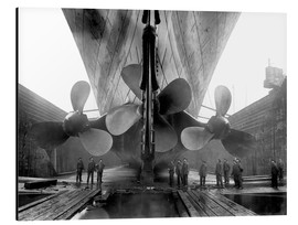 Alu-Dibond  Shipyard workers with the Titanic - John Parrot