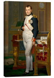 Canvas print  Vintage painting of The Emperor Napoleon in his study. - John Parrot