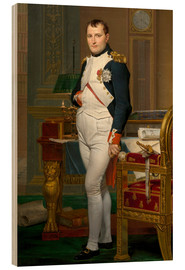 Wood print  Vintage painting of The Emperor Napoleon in his study. - John Parrot