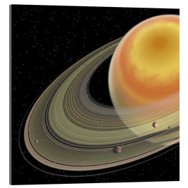 Acrylic print  Artist's concept of planet Saturn. - Corey Ford