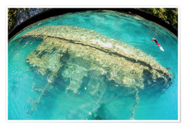 Poster  Shipwreck in Palau's inner lagoon - Ethan Daniels
