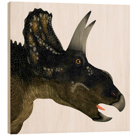 Wood  Nedoceratops portrait. - Corey Ford