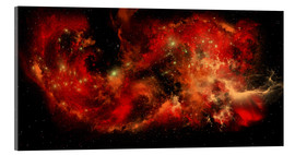Acrylic print  A large red nebula covering a huge region of space. - Corey Ford