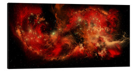 Aluminium print  A large red nebula covering a huge region of space. - Corey Ford