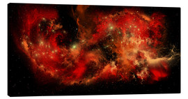 Canvas print  A large red nebula covering a huge region of space. - Corey Ford