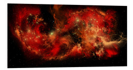 Foam board print  A large red nebula covering a huge region of space. - Corey Ford