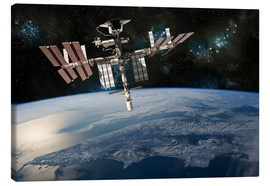 Canvas print  Space Shuttle at International Space Station - Marc Ward