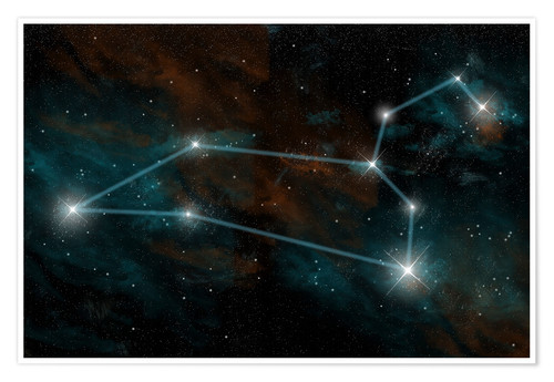 Premium poster Artist's depiction of the constellation Leo the Lion.