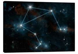 Canvas print  Artist's depiction of the constellation Libra the Scales. - Marc Ward