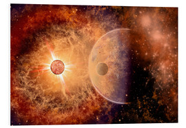 Foam board print  A supernova destroying itself and its planets. - Mark Stevenson