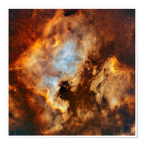 Premium poster The North America Nebula and Pelican Nebula in Cygnus.
