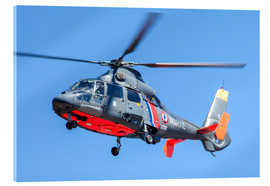 Acrylic print  French Navy AS365 Dauphin helicopter - Timm Ziegenthaler