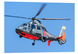 Foam board print  French Navy AS365 Dauphin helicopter - Timm Ziegenthaler