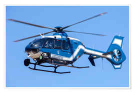 Premium poster French gendarmerie helicopter