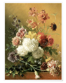 Premium poster  Still Life with Flowers - Georgius Jacobus Johannes van Os