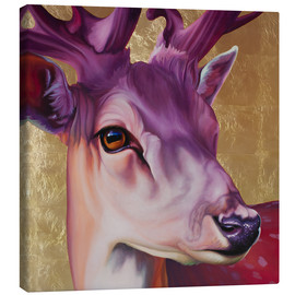 Canvas print  Deer pink gold - Renate Berghaus