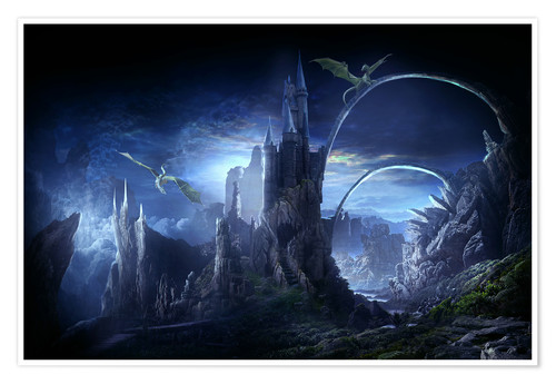 Premium poster Valley of dragons