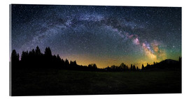 Acrylic print  Milky Way arching over the trees - Matthias Köstler