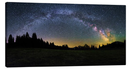 Canvas  Milky Way arching over the trees - Matthias Köstler
