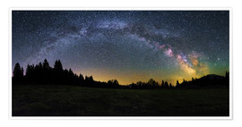 Premium poster  Milky Way arching over the trees - Matthias Köstler