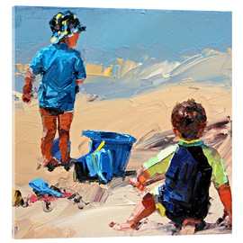 Acrylic print  To play in the sand - Claire McCall