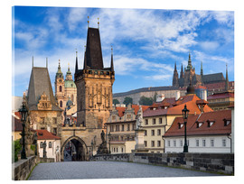 Acrylic glass  Prague Castle and Old Town in summer - Jan Christopher Becke